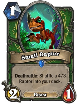 Small Raptor HS Hunter Card