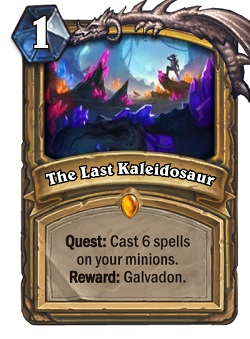 The Last Kaleidosaur HS Paladin Quest Card