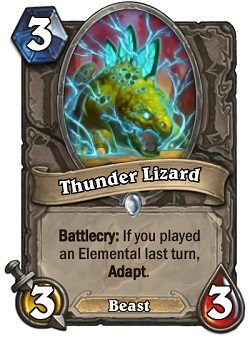Thunder Lizard HS Card