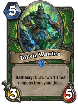 Tol'vir Warden HS Hunter Card