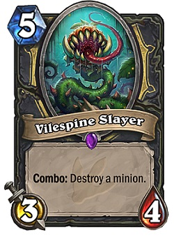 Vilespine Slayer HS Rogue Card