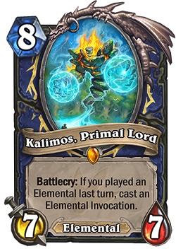 kalimos Primal Lord HS Shaman Card