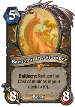 Barnabus the Stomper HS Druid Card