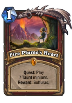 Fire Plume's Heart HS Warrior Quest Card