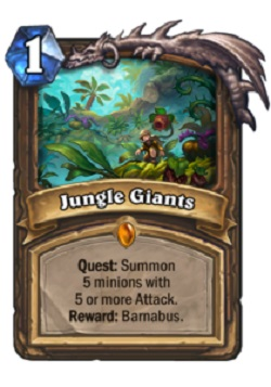 Jungle Giants HS Druid Quest Card