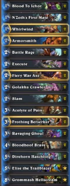 Kolento Un'Goro Warrior Deck ft Elise the Trailblazer
