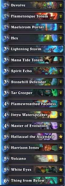 Sjow Spirit Echo Shaman Deck May 17