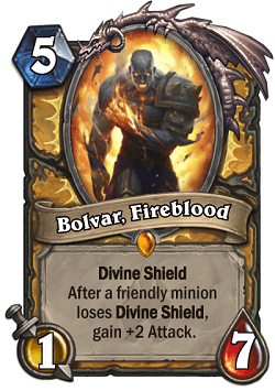 Bolvar, Fireblood HS Paladin Legendary Card