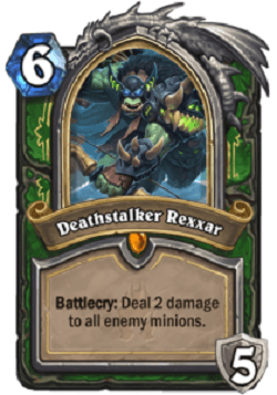 Deathstalker Rexxar HS Hunter Portrait Card