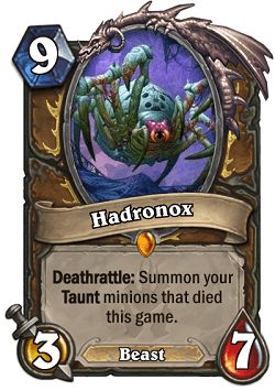 Hadronox HS Druid Legendary Card