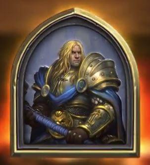 Prince Arthas Hero Portrait Hearthstone