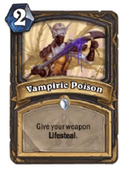 Vampiric Poison HS Rogue Card HS Decks And Guides