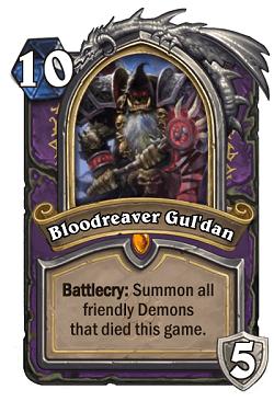 Bloodreaver Gul'dan HS Warlock Death Knight Portrait