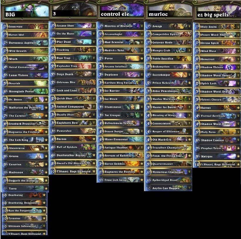 Decks to Beat Lich King with All 9 Classes pt1