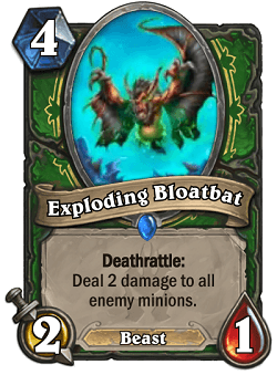 Exploding Bloatbat HS Hunter Card