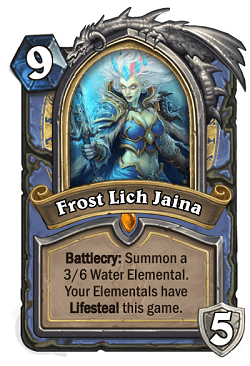 Frost Lich Jaina HS Mage Death Knight Portrait