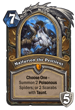 Malfurion the Pestilent HS Druid Death Knight Portrait
