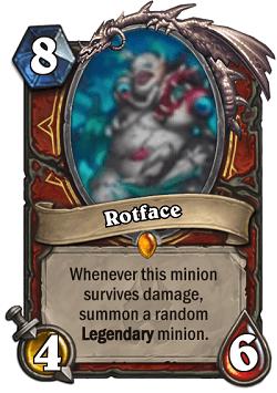 Rotface HS Warrior Legendary Card