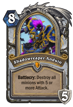 Shadowreaper Auduin HS Priest Death Knight Portrait Card