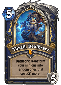 Thrall Deathseer HS Shaman Death Knight Portrait