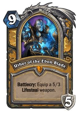 Uther of the Ebon Blade HS Paladin Death Knight Portrait