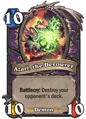 Azari The Devourer HS Warlock Card