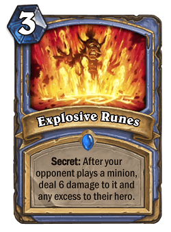 Explosive Runes HS Mage Secret Card