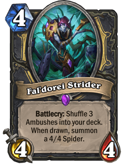 Faldorei Strider HS Rogue Card