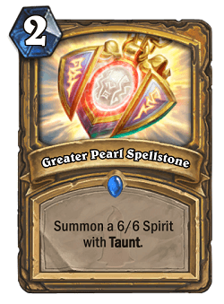 Greater Pearl Spellstone HS Paladin Card