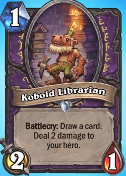 Kobold Librarian HS Warlock Card
