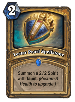 Lesser Pearl Spellstone HS Paladin Card
