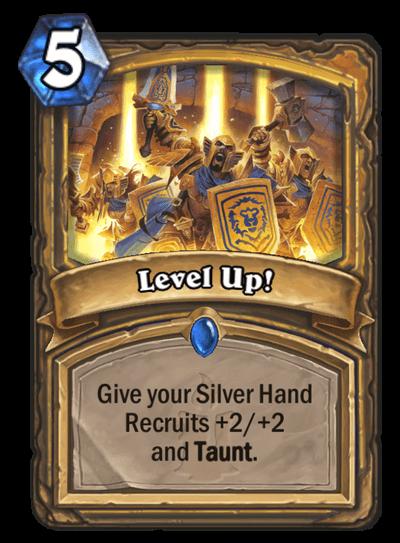 Level Up HS Paladin Card