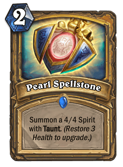Pearl Spellstone HS Paladin Card