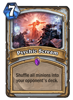Psychic Scream HS Priest Card