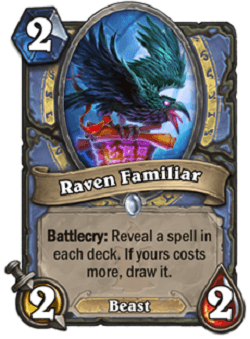 Raven Familiar HS Mage Card