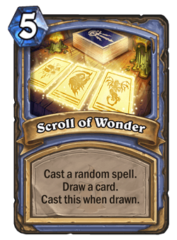 Scroll of Wonder HS Mage Card