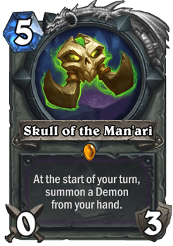 Skull of the Manari HS Warlock Legendary Card