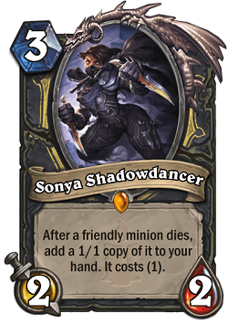 Sonya HS Rogue Legendary Card