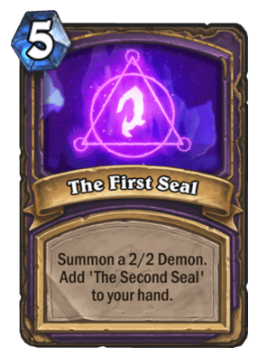 The First Seal HS Warlock Card