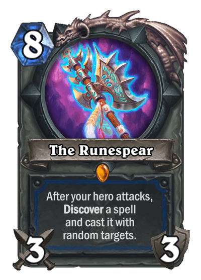 The Runespear HS Shaman Legendary Weapon Card