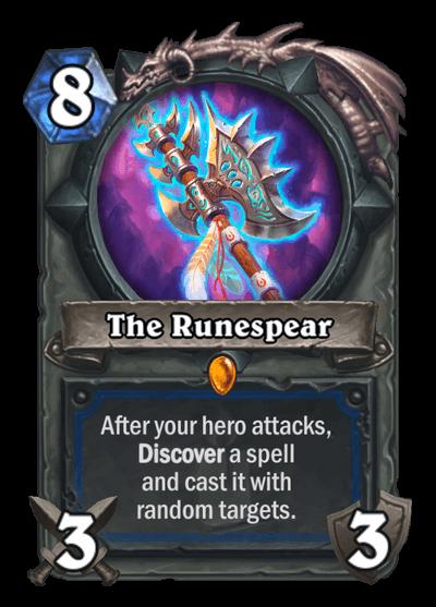 The Runespear HS Shaman Legendary Weapon Card