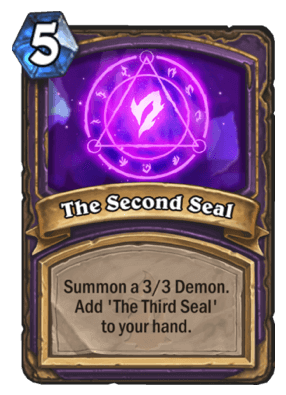 The Second Seal HS Warlock Card