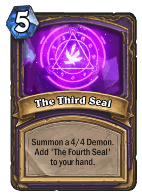 The Third Seal HS Warlock Card