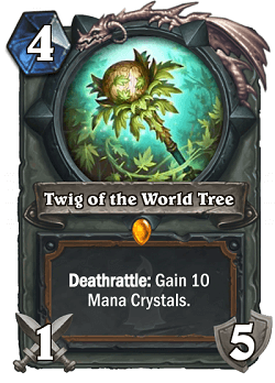 Twig of the World Tree HS Druid Legendary Weapon Card