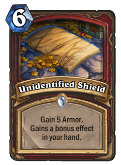 Unidentified Shield HS Warrior Card