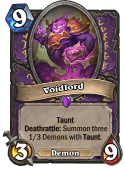 Voidlord HS Warlock Card