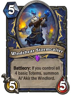 Windshear Stormcaller HS Shaman Card