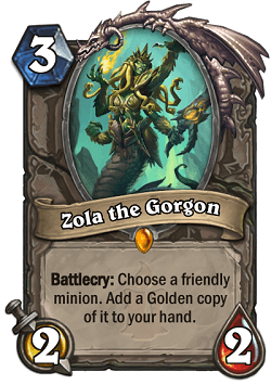 Zola the Gorgon HS Legendary card