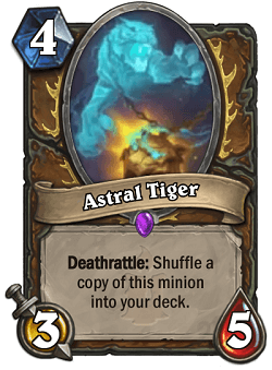 Astral Tiger HS Druid Card