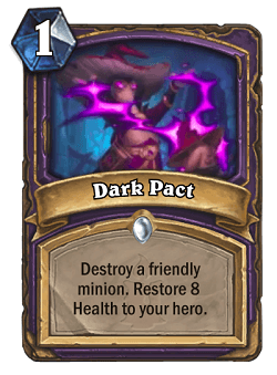 Dark Pact HS Warlock Card